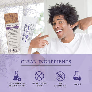 natural toothpaste for sensitive teeth with natural, safe, and clean ingredients