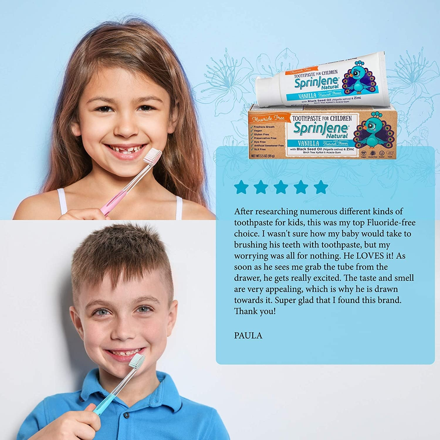 Natural Toothpaste for Kids with Reviews