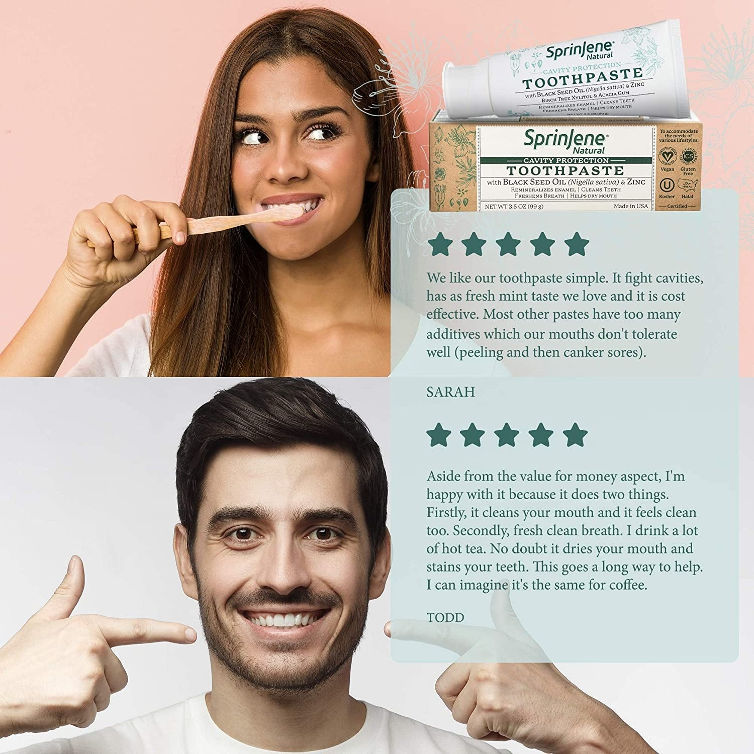SprinJene Toothpaste product reviews