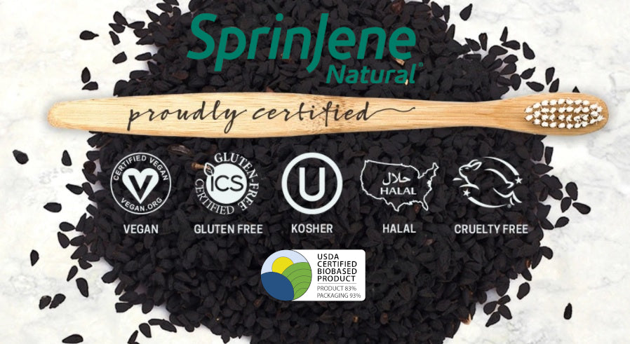 SprinJene Natural Sensitive Toothpaste Certifications