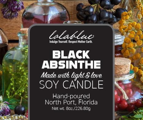 Black Absinthe Soy Candles, Non-GMO All Natural Soy Candles