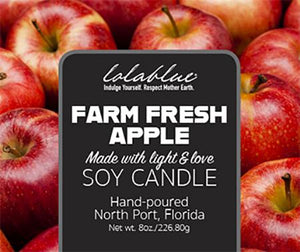Farm Fresh Apple Scented Natural Candles & Wax Melts
