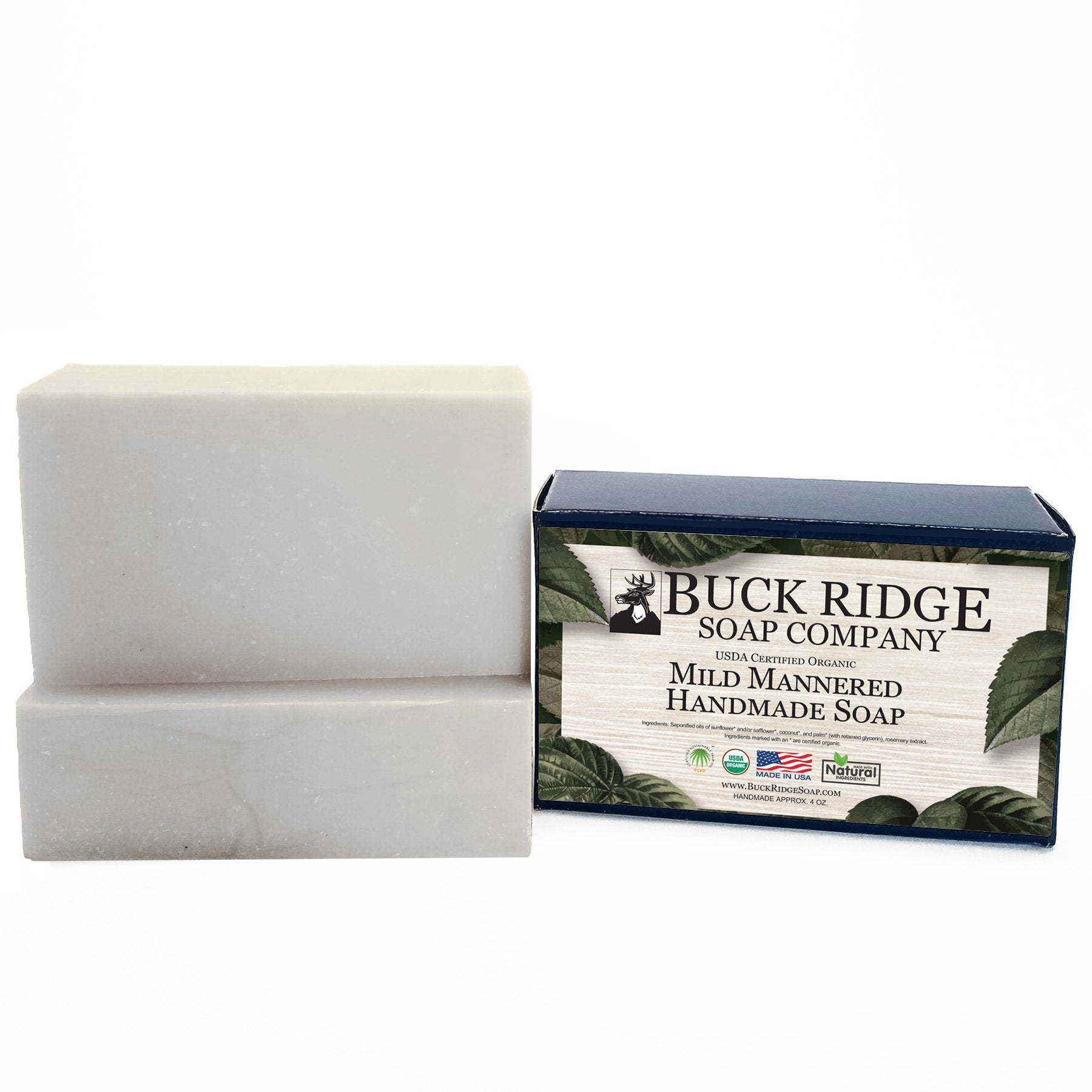 USDA Certified Organic UNSCENTED Handmade Soap Bar