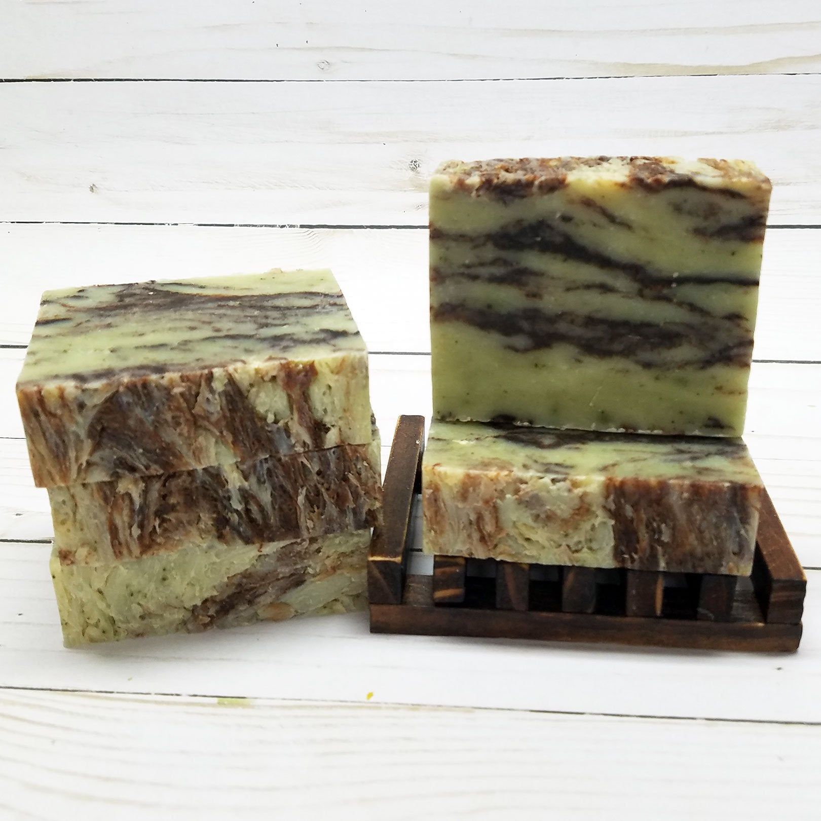 Organic Mint Chocolate Handmade Soap - Vegan Handmade Soap