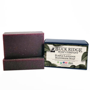 USDA Certified Organic Purple Lavender handmade soap bar