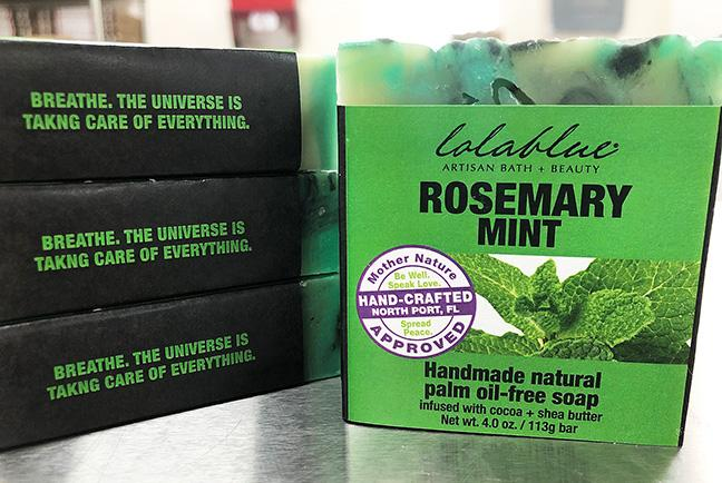 All-Natural Rosemary Mint Soap