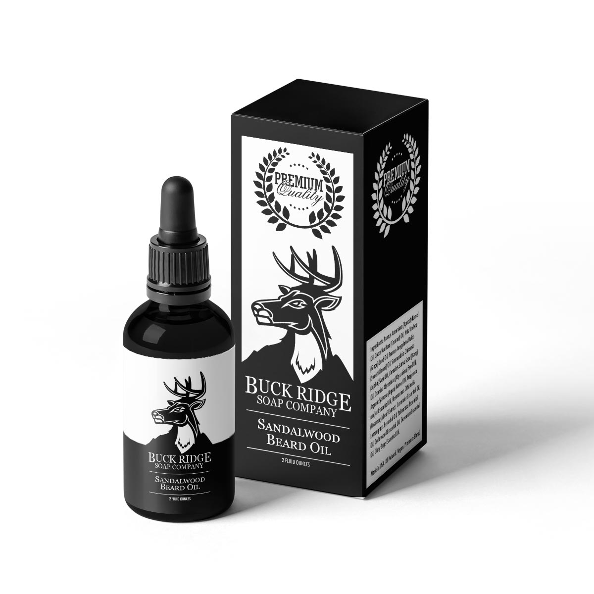 Sandalwood Men's Natural Beard Oils by Buck Ridge Soap Co.