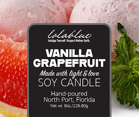 Vanilla Grapefruit Soy Candles Non-GMO All-Natural