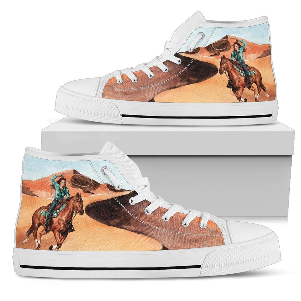 Cowgirl High Top Sneakers