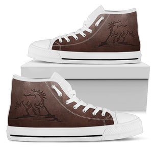 Horse High Top Shoe