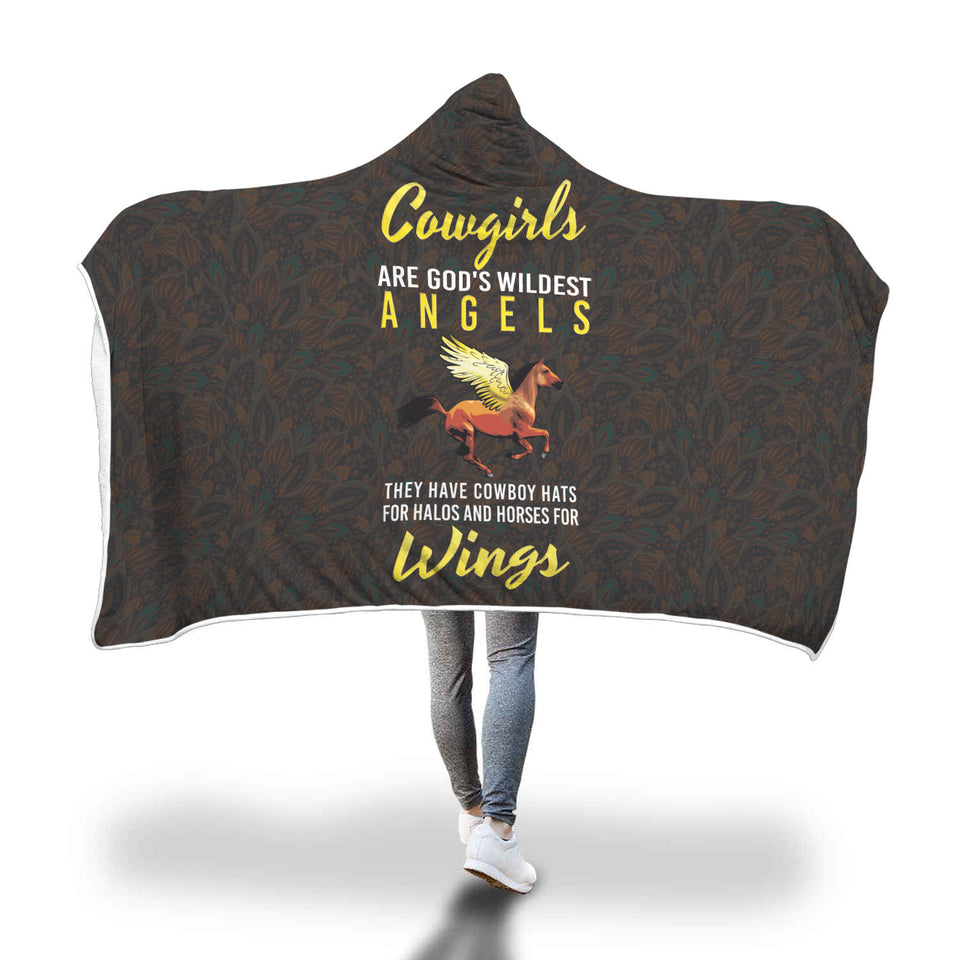 Cowgirl Kid/Adult Hooded Blanket