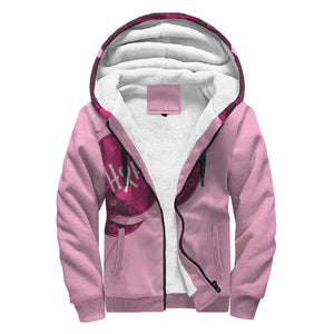 CUSTOM DESIGN - TURTLE - BREAST CANCER AWARENESS SHERPA HOODIE