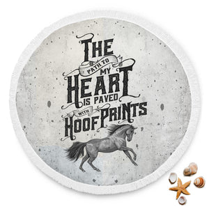 Horse Lover Round Beach Blanket