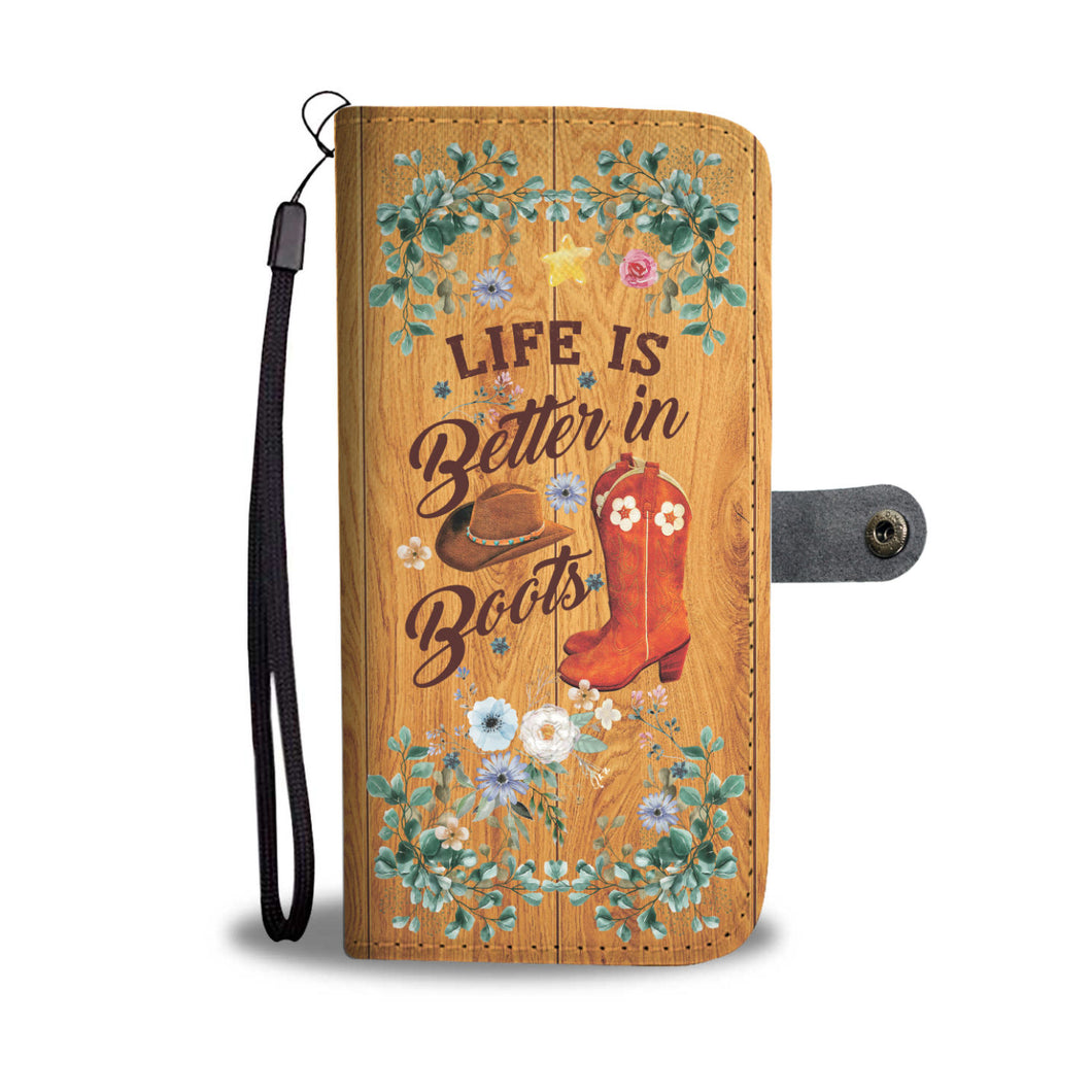 Life Is Better - RFID Wallet Phone Case