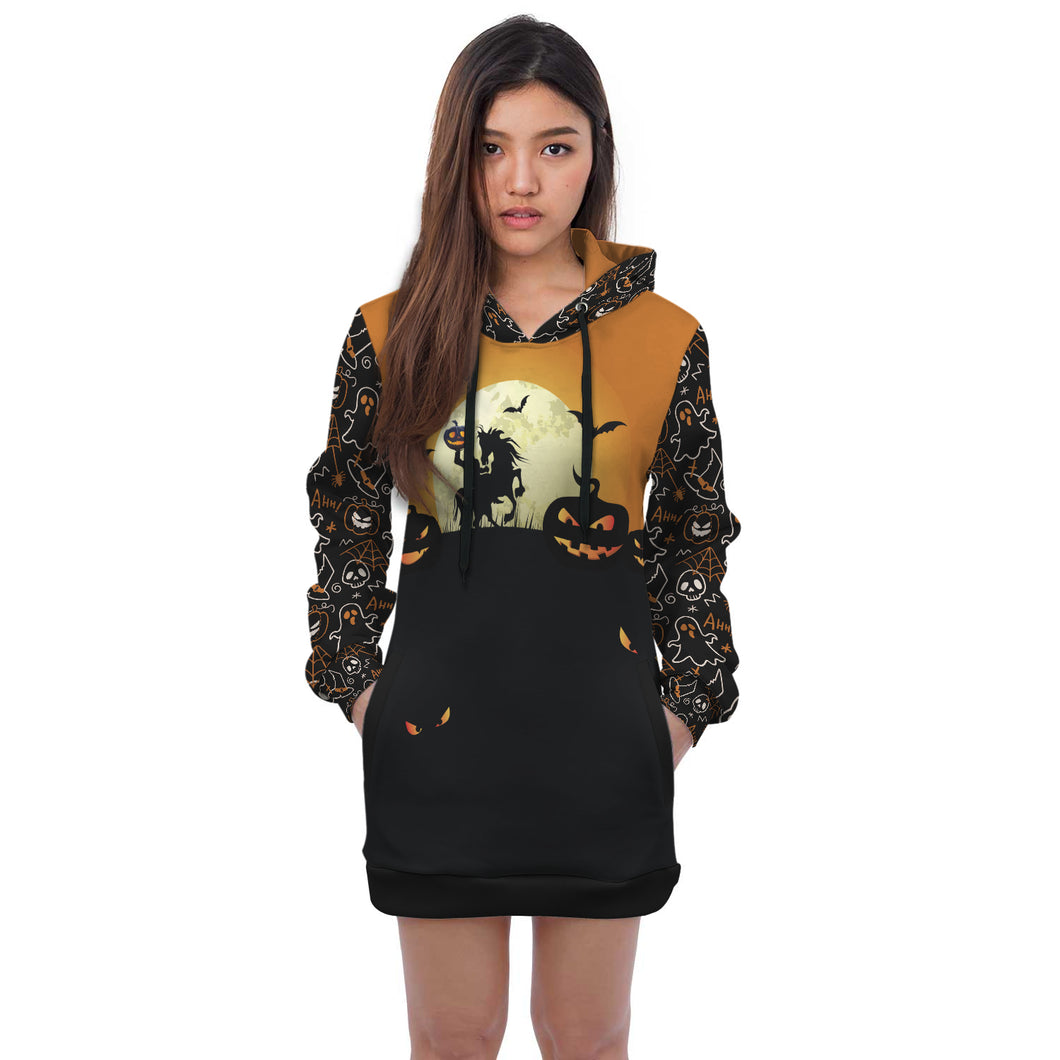 Halloween Horse Hoodie Dress