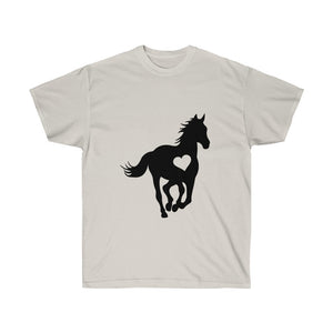 Horse Heart Lover T-Shirt - Concert Tee Shirt - T Shirt- Gift - Birthday - Cowgirl - Mom Gift - Rodeo Tshirt