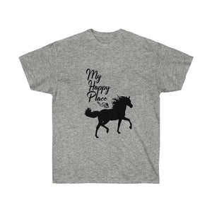 My Happy Place Horse T-Shirt - Cowgirl Concert Tee Shirt - Country T Shirt- Gift Tshirt Birthday - Horse Lover