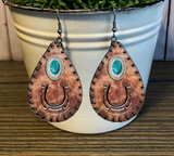 Wooden Horseshoe Earrings