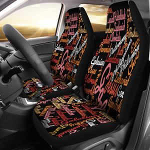 Custom-Made Holy Bible Books Black Car Seat Cover