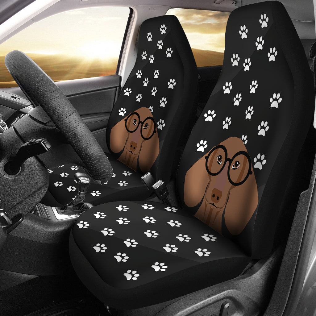 Black Wiener Car Seat Covers