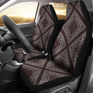 Coffee Brown Car Seat Covers - Diamond