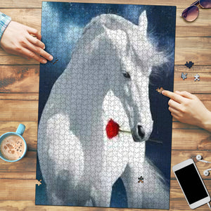 Beautiful Horse & Rose Jigsaw Puzzle