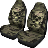 Camo Skull Car Seat Covers Camouflage with Skulls