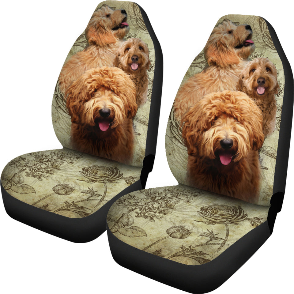 Goldendoodle Car Seat Covers (Set of 2)