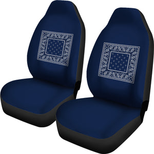 Navy Bandana Car Seat Covers - Minimal