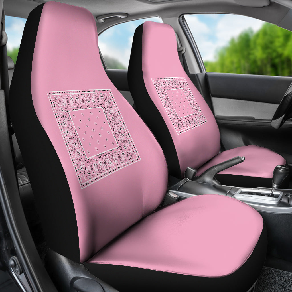 Light Pink Bandana Seat Covers - Minimal