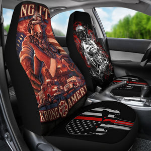 Firefighter car seat covers