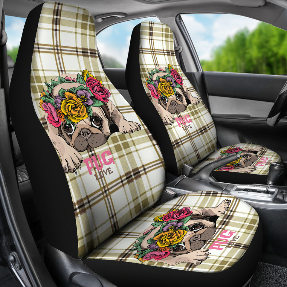 Pug Car Seat Covers