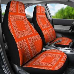 Perfect Orange Bandana Car Seat Covers - Patch