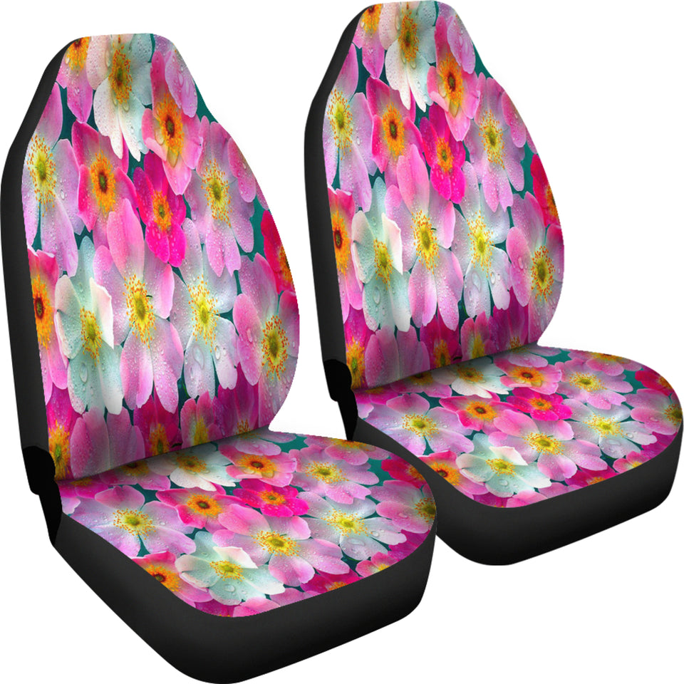 Bright Flowers Car Seat Covers