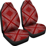 Maroon Bandana Car Seat Covers - Diamond