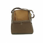Tan Suede Sling Bag-Black