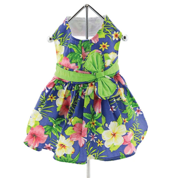 Hawaiian Hibiscus Dress w/ Leash