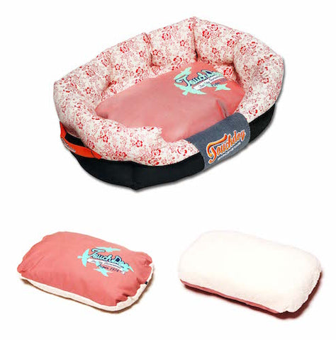 Touchdog Pink Floral Bed