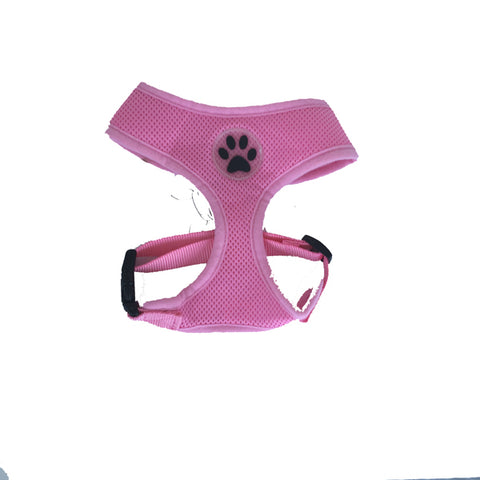 Pink Paw Print Mesh Harness