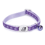 Two Tone Pawprint cat collar