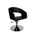 URBAN RELAX STYLING CHAIR WITH CHROMED HYDRAULIC BASE