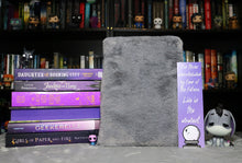 Load image into Gallery viewer, Grey Faux Fur Book Sleeve
