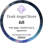 Ash | The Illuminae Files | 200mL Soy Wax Candle
