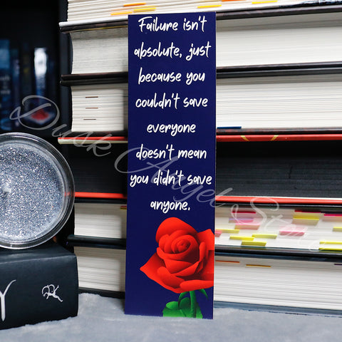 Failure isn't Absolute | A Curse So Dark and Lonely | Quote Bookmark