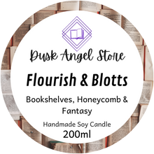 Load image into Gallery viewer, Flourish & Blotts | Harry Potter | 200ml Soy Wax Candle