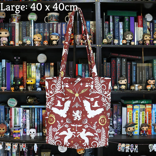 Maroon Wizarding Icons Tote Bag
