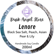 Load image into Gallery viewer, Lenore | House of Salt and Sorrows by Erin A. Craig | 200mL Soy Wax Candle