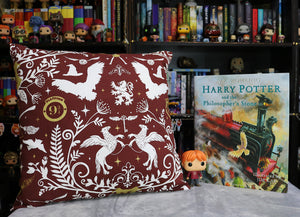 Maroon Wizarding Icon Cushion Cover | Harry Potter
