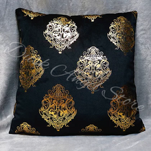 Load image into Gallery viewer, Velvet School Crest Cushion Cover