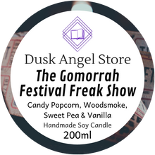 Load image into Gallery viewer, The Gomorrah Festival Freak Show | Daughter of the Burning City | 200ml Soy Wax Candle